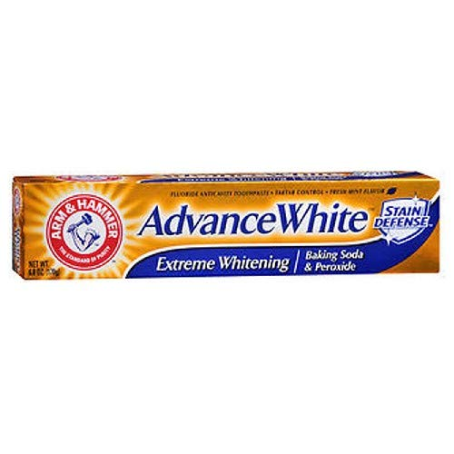 Advance White Tartar Control Toothpaste - Arm & Hammer Advance Toothpaste Baking Soda Peroxide Tartar Control, White, 6 Ounce