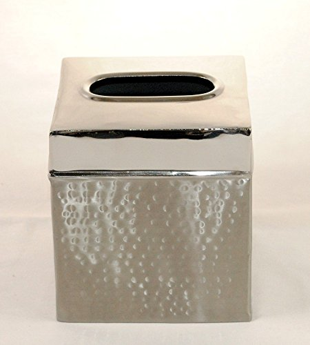 3SCompany Hammered 2 Tone Tissue Box Cover -
