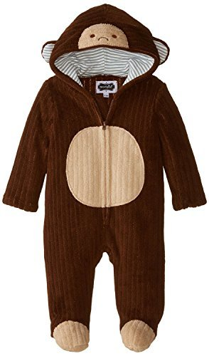 (Mud Pie Unisex-Baby Newborn Monkey Bunting, Brown 0-6)