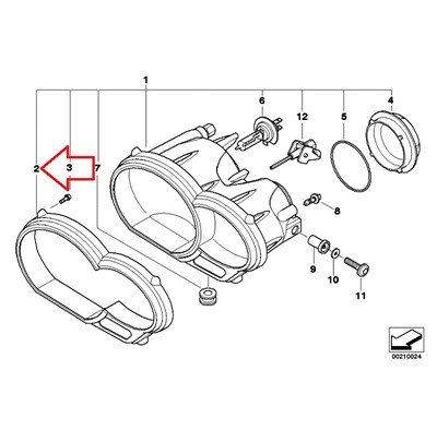Amazon Com Bmw Genuine Headlight Cover Frame R1200gs R1200gs