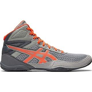 ASICS Men's Matflex 6 Wrestling Shoes, 10.5M, Stone Grey/Flash Coral