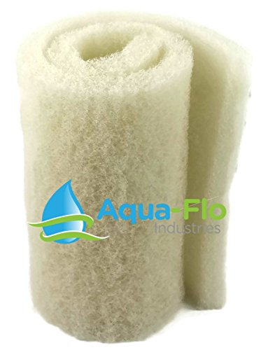 20″x 56″x 2″ White Aqua-Flo Coarse Bulk Filter Media Roll for Koi Pond, Waterfall Filters, & Skimmers