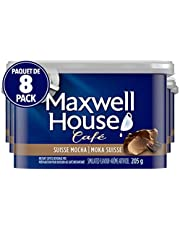 Maxwell House Café Suisse Mocha Instant Coffee, 205g (Pack of 8)