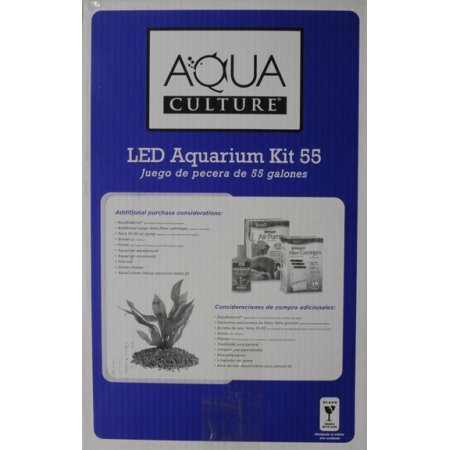 Aqua culture aquarium starter kit 55 gallon woof meow wow for 55 gallon fish tank starter kit