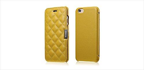 [해외]아이폰 7 케이스, Moyooo 아이폰 7 정품 가죽 케이스 울트라 얇은 정품 가죽 보호 케이스 아이폰 7 4.7 인치 옐로우/iPhone 7 Case, Moyooo iPhone 7 Genuine Leather Cas