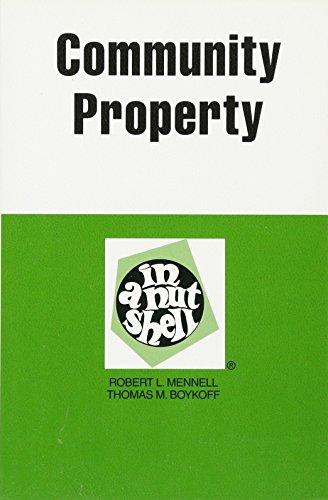 Community Property in a Nutshell