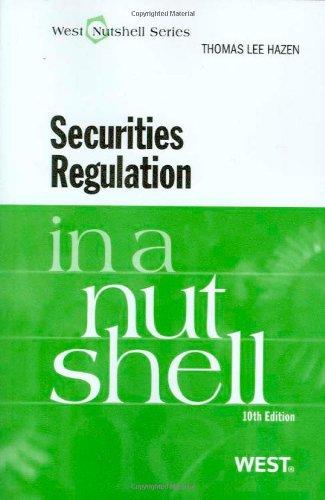 Securities Regulation in a Nutshell, 10th (Nutshell Series)