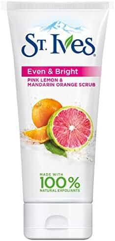 St. Ives Even & Bright Face Scrub, Pink Lemon and Mandarin Orange 6 oz