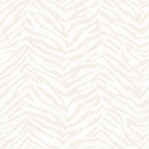Chesapeake CHR11675 Mia Bone Faux Zebra Stripes Wallpaper