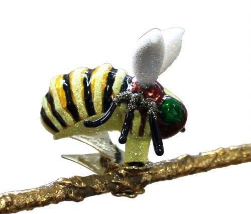 Christbaumschmuck Anh/änger Biene Hummel Clip Glas mundgeblasen handbemalt