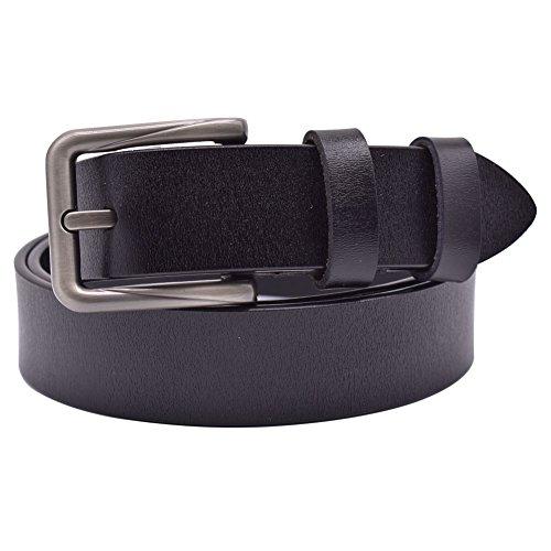 Womens Belts for Jeans, Vonsely Genuine Leather Dress Belt Ladies Belts for Dresses (Black 105) ()