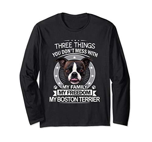 Boston Terrier Long Sleeve T-Shirt Thanksgiving Christmas