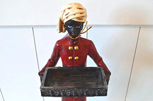 Diener Figur Afrika Kolonial Visitenkartenhalter Butler