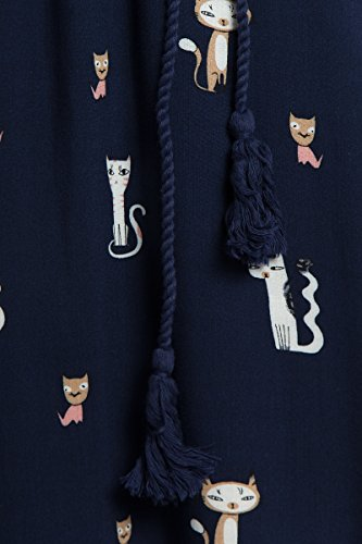 Niedlichem Damen Cosmic Katzen Print mit Kleid Flare Blue Finn AHwx5ZqIx