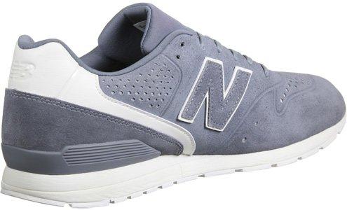 Nye Balance Mænd 996 Læder Sneaker, Grå / Hvid