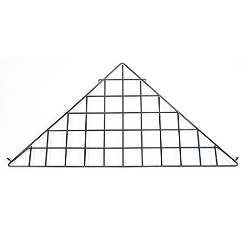 KC Store Fixtures A04926 Grid Triangle Shelf, Black (Pack of 10)