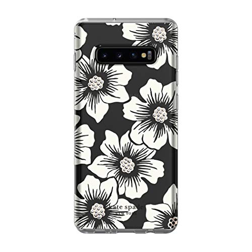 - Kate Spade New York Phone Case | for Samsung Galaxy S10 Plus | Protective Clear Crystal Hardshell Phone Cases with Slim Design and Drop Protection - Hollyhock Floral Clear/Cream with Stones
