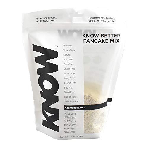 - KNOW Foods - KNOW Better Pancake Mix, Keto Pancake,Protein Pancake, Low Carb, Paleo, Gluten Free, 16oz Bag
