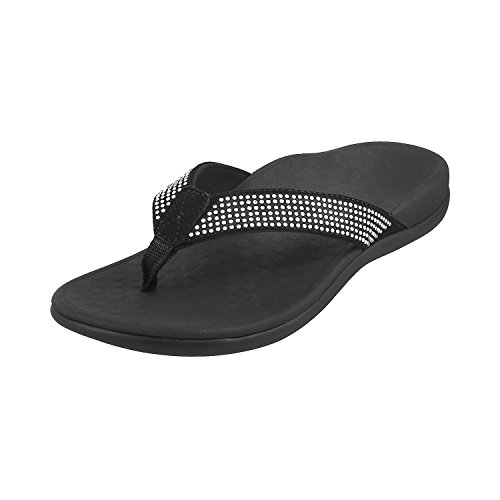 negro Womens Islars Sandals Vionic Leather IN340 Negro WUScxR41