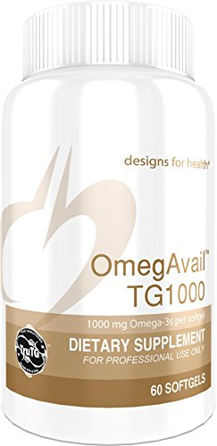 Designs for Health - OmegAvail TG1000 - 1000mg Triglyceride (TG) Fish Oil, 60 Softgels by designs for health