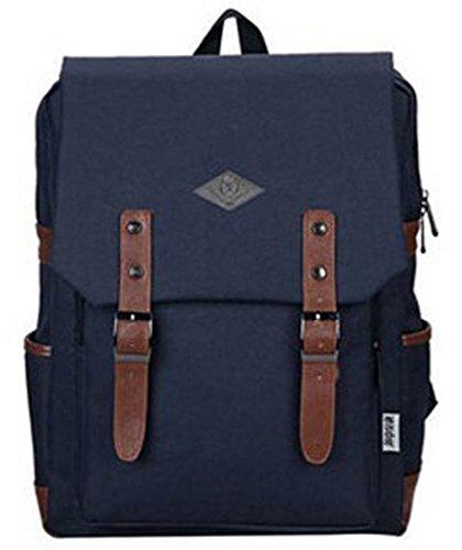 MONMOB Japan Korean Style Unisex Oxford Backpack School Daypack College Students Schoolbag For Women Men / Teen Girls Boys (star blue)