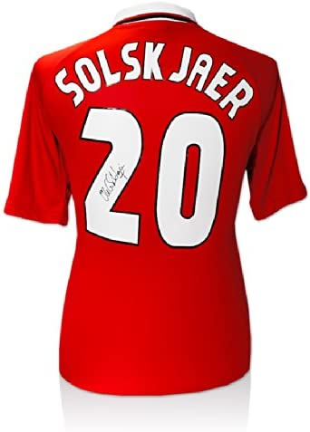 Viejos Gunnar firmada por Solskjaer Manchester United 1999 ...