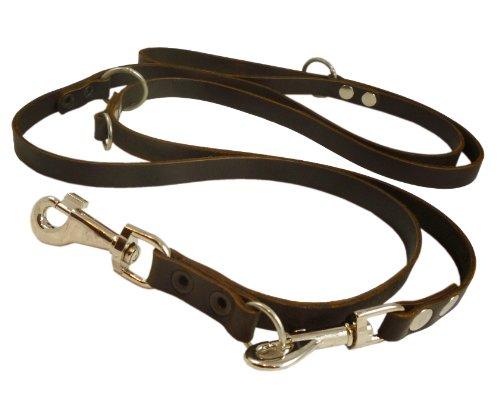 6-way-european-multifunctional-genuine-leather-dog-leash-adjustable-schutzhund-lead-49-94-long-3-4-w
