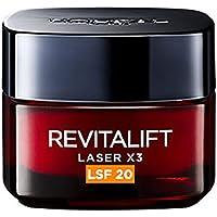 Crema de día Revitalift Laser X3Día, Factor de Protección 20, 1 de 50ml, de L 'Oréal Paris.
