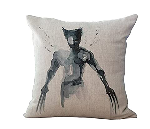 Super Heroes X Men Thicker Cotton & Linen Pillowcase Decorative Throw Pillow Cover (wolverine) (Wolverine Xmen Bedding)