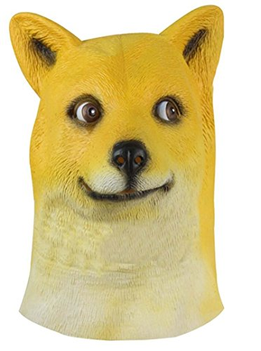 Laylala Funny Doge Dog Head Mask for Mask Festival、halloween、easter or Dance Party