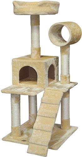 go-pet-club-f75-tree-condo-scratcher-post-pet-bed-furniture-50-inch-beige
