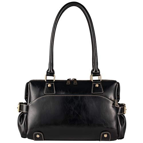 Women's Hobo Leather Tote Genuine Black bags Fashion Shoulder Bag Handbags Purses Yiwanda Bags dq18wd