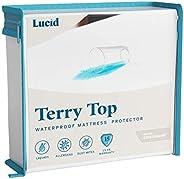 LUCID Protector de colchón 100% Impermeable e hipoalergénico de Primera Calidad 15 años de garantía, sin Vinil