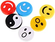 Cute Silicone Vibration Dampeners for Tennis Squash Racket, Set of 6