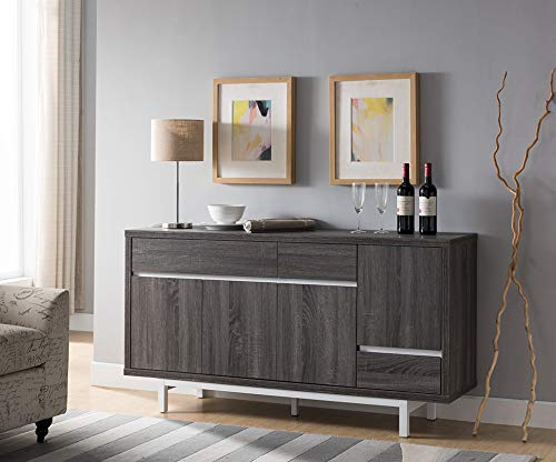 Smart home 171959 Sideboard Buffet Table with Wine Cabinet