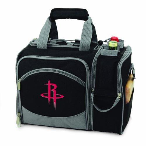 NBA Houston Rockets Malibu Insulated Shoulder Pack with Deluxe Picnic Service for Two