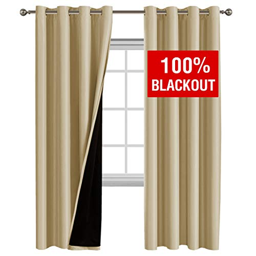 Flamingo P 100% Blackout Curtains Thermal Insulated Window T