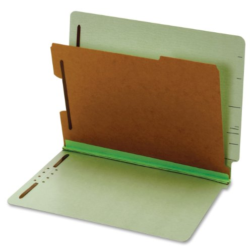 Pendaflex Pressboard End-Tab Classification Folders, Letter Size, 1 Divider, 1.75