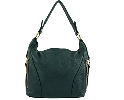 nany nany sac sac Coloris nany sac main tous à cuir Vert Italie Foncé jours nany Sac Sac Plusieurs main les cuir Nany femme sa vachette a cuir aqwn6Cz