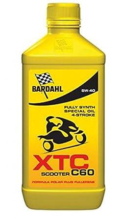 BARDAHL XTC C60 362040 ACEITE LUBRICANTE PARA MOTO SCOOTER 5W40 1LT 4T: Amazon.es: Juguetes y juegos