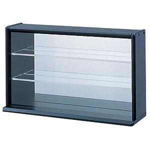 コレクションケース ミニ ワイド 透明アクリル棚板タイプ ブラック