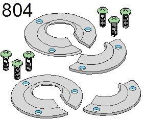 Xtenda-Leg? #804 Foot Hardware -pair by Xtenda-Leg