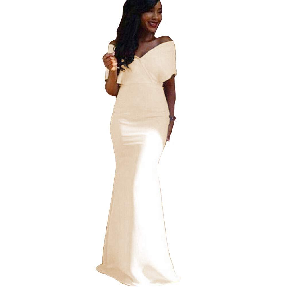Champagne KaBuNi Mermaid Prom Dresses Off The Shoulder Zipper Long Dresses for Women