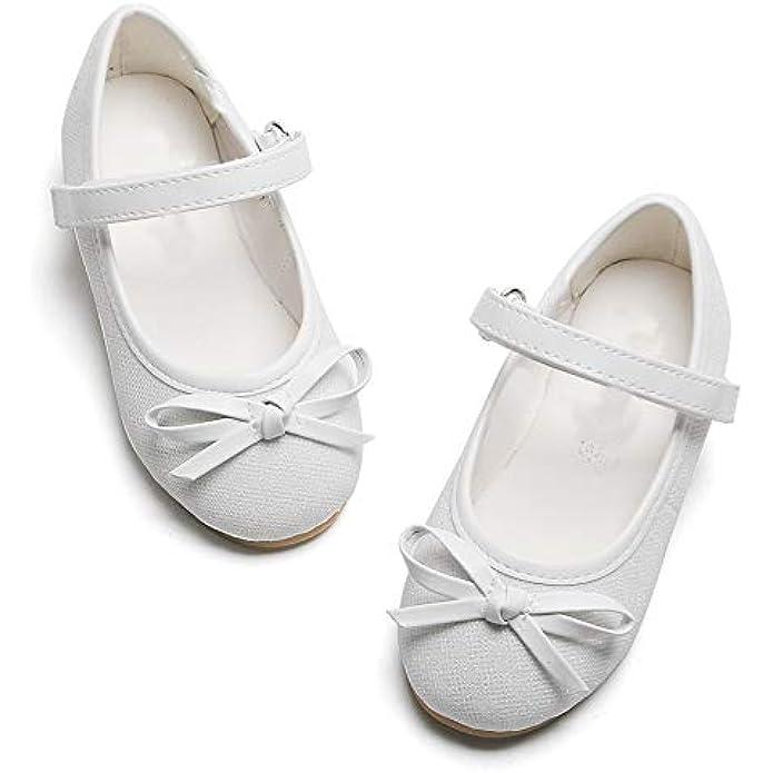 GINFIVE Girls Flat Mary Jane Shoes Slip-on School Party Dress Ballerina Shoe (Toddler/Little Kids)