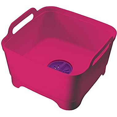 Joseph Joseph Wash and Drain Dish Tub, Pink