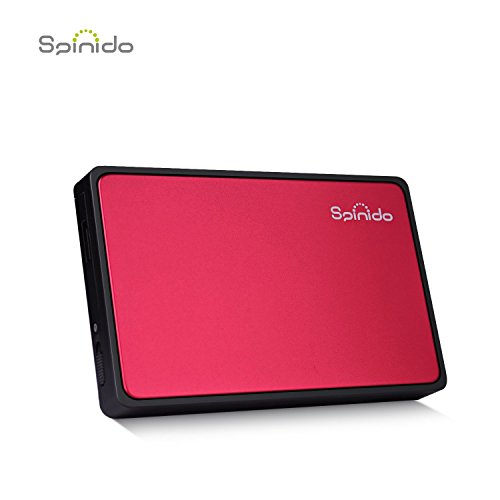 USB 3.0 External 2.5Inch SATA Hard Disk Drive Enclosure Case (Red) - 8