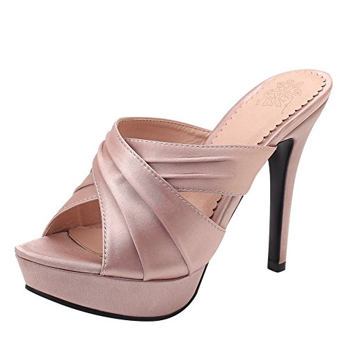 Carolbar Women's Chic Sexy Platform High Heel Peep Toe Custom Summer Sandals Pink-12cm XczkaM06hx