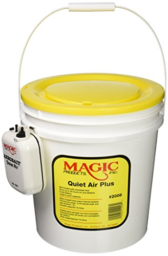 Magic Bait MAG2008 Quiet Air Plus Bucket Aerator, White ()