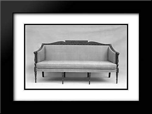 (Samuel McIntire - 40x28 Black Modern Frame and Double Matted Museum Art Print - Sofa)