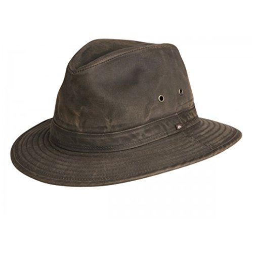 Indy Jones Mens Water Resistant Cotton Hat Brown Small ()